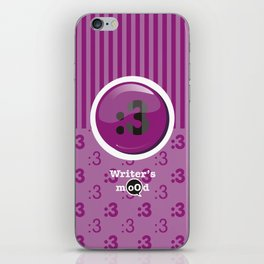 Purple Writer's Mood iPhone Skin