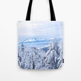White out #mountains #winter Tote Bag