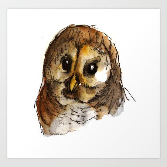 Big-eyed owl Art Print