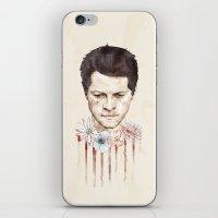 castiel iPhone & iPod Skins featuring Castiel by mycolour
