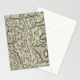 Vintage Map of England (1603) Stationery Cards