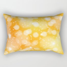 Blurred sunshine bubbles pattern Rectangular Pillow