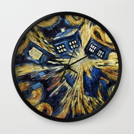 TARDIS EXPLODES Wall Clock