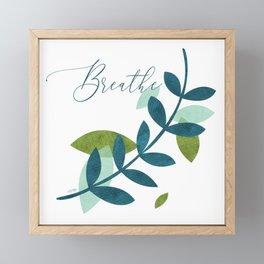 Simple Leaves Framed Mini Art Print