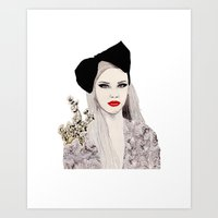 bow Art Prints featuring Bow by Melania B
