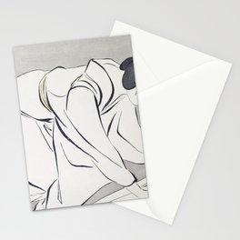 12,000pixel-500dpi - Hashiguchi Goyo - Woman Folding Kimono Stationery Cards