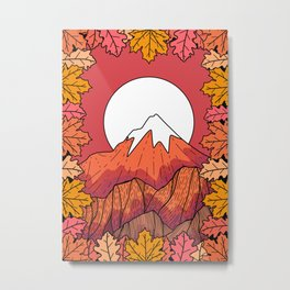 The orange autumn peak Metal Print