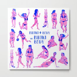 Bikini Body Ladies Metal Print
