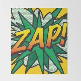 Comic Book ZAP! Throw Blanket