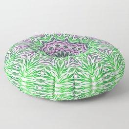 Green - purple kaleidoscope Floor Pillow