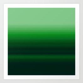 Emerald Green Stripe Design Art Print