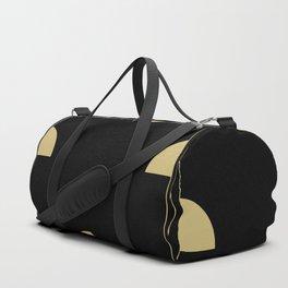 Art Deco / Black Cat Eye Pattern Duffle Bag