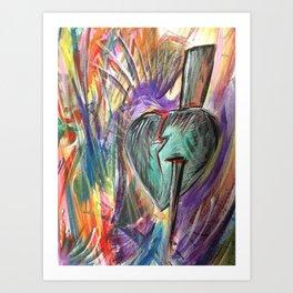 Thorn in Heart Art Print