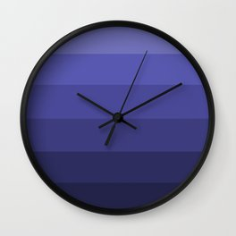 Dark Winter Blue Hues - Color Therapy Wall Clock
