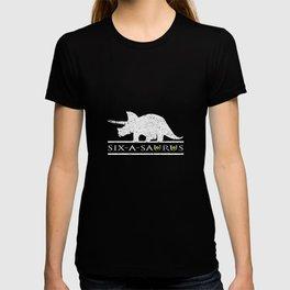 6th Birthday Dinosaur I 6 Years Old Dino Kids Gift T Shirt