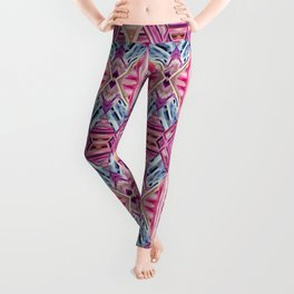 LINEA 019 Abstract Collage Leggings