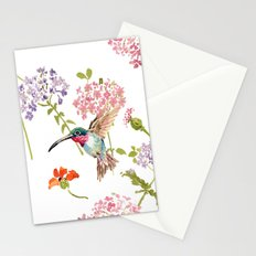 Hummingbird floral Stationery Cards