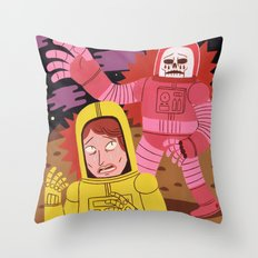Death In Space B-movie Throw Pillow