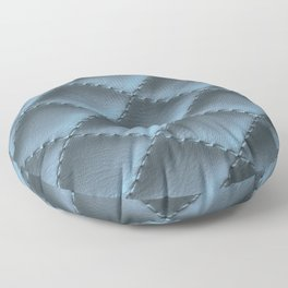 Quilted leather effect (blue metal) Floor Pillow