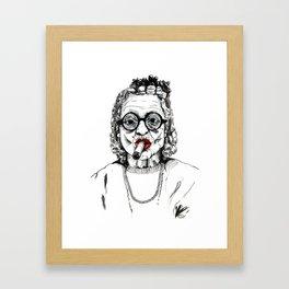 Woman with Cigar Framed Art Print