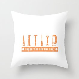 Perfect T-shirt For Construction Supervisor Or Construction Workers and Construction Boss Design Throw Pillow
