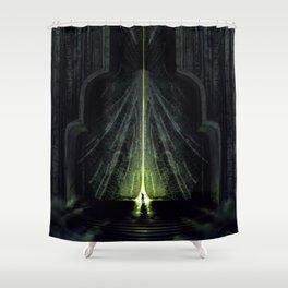 The black city gates Shower Curtain