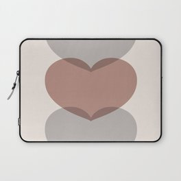 Hearts - Cocoa & Gray Laptop Sleeve