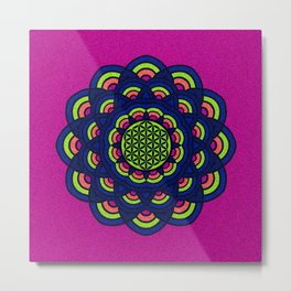 Flower Of Life Mandala 2 Metal Print