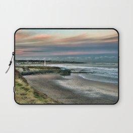 Seaburn lighthouse and coastline Laptop Sleeve