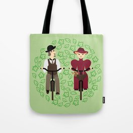 Retro cyclists. Summer Tote Bag