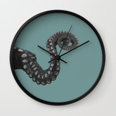 OCTOPUS - tentacle , arm , animal , single , one , spiral Wall Clock