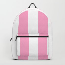 Pale Sweet Lilac and White Wide Vertical Cabana Tent Stripe Backpack