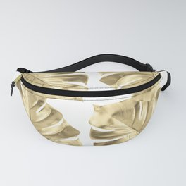 Monstera Gold Fanny Pack