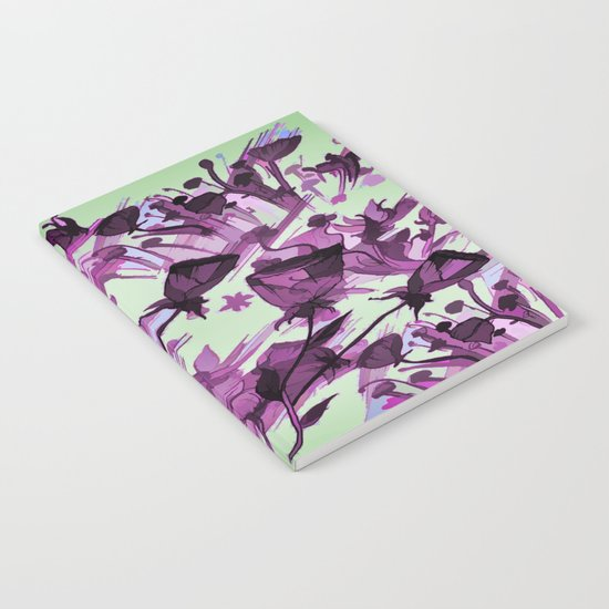 Painterly Graceful Flowing Flowers Notebook