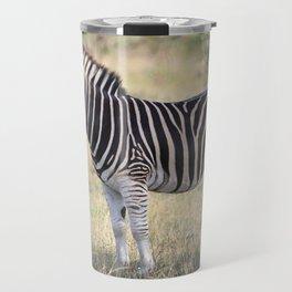 African Zebra in the Wild Travel Mug