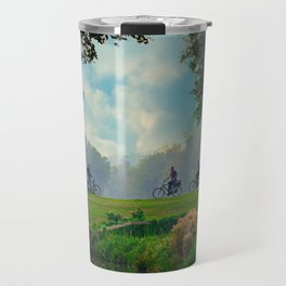 Cyclists On Country Road Travel Mug