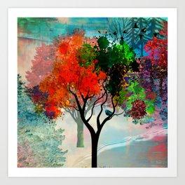 Lavish Abstract Landscape Art Print