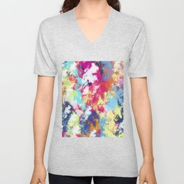 Abstract 39 Unisex V-Neck
