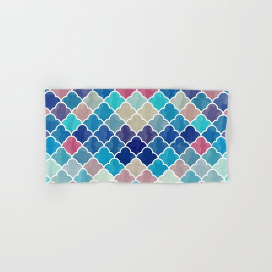 Watercolor Lovely Pattern VVXV Hand & Bath Towel