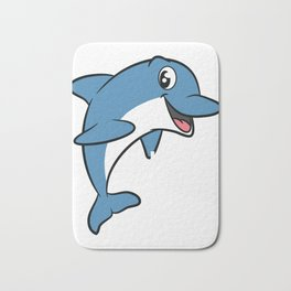 Love dolphins, I love dolphins T-shirt Dolphin are the animals, the mammals. Love Dolphins Bath Mat