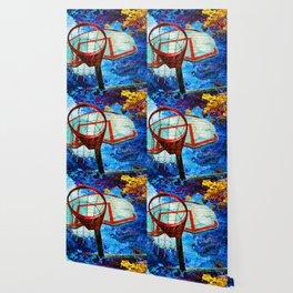 Colorful Modern Basketball Art Wallpaper