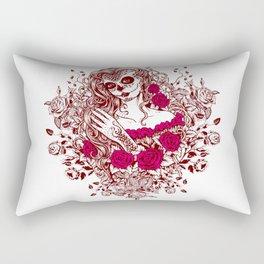 Sexy Woman zombie WITH Flower - Razzmatazz Rectangular Pillow