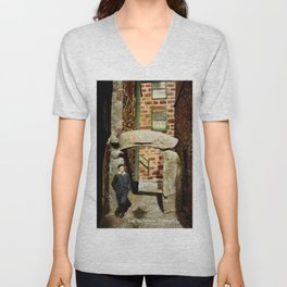 1900 St. Ives Cornwall, The Old Arch, local boy Unisex V-Neck