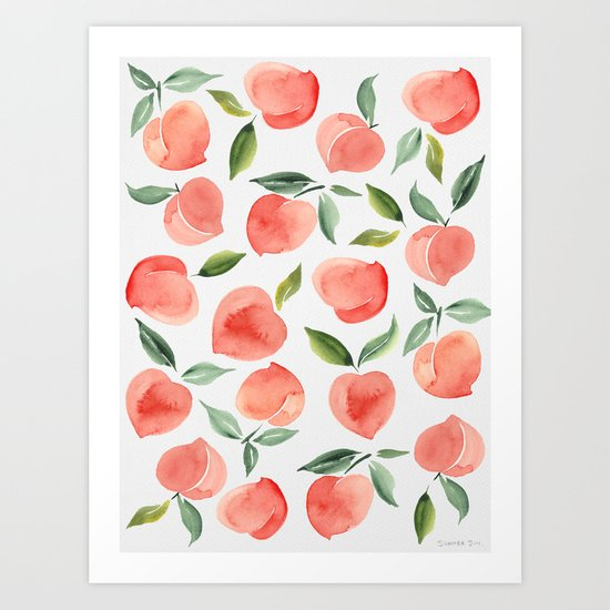 peaches by summersunhomeart