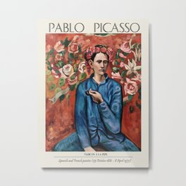 Vintage poster-Pablo Picasso. Boy with a pipe. Metal Print