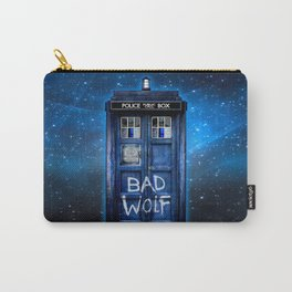 Phone box doctor with Bad wolf graffiti Carry-All Pouch