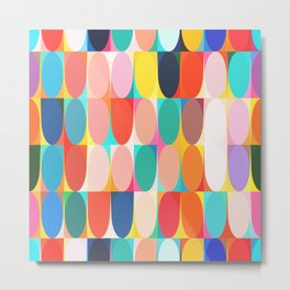 Colourful Dots Metal Print