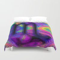 scorpio Duvet Covers featuring Scorpio by Synesthetic