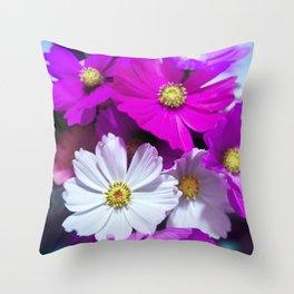 Tender Bouquet of Flowers Throw Pillow