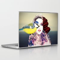 no face Laptop & iPad Skins featuring Face by Cs025